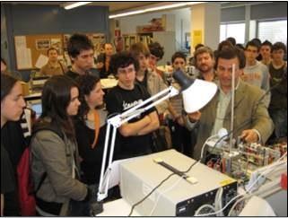 iLabRS. Visita de l'ETSETB i del Laboratori Remot (2).